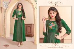 Designer Long Kurti with Shrug5