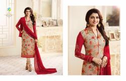 Designer Printed with Embroidered Straight Suit1
