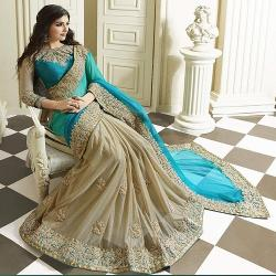 Lycra Saree With Blouse Material