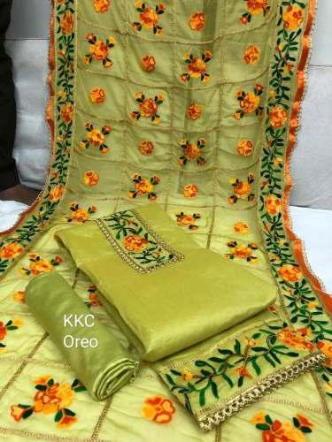 b49b5f9543 fancy chanderi dress materials at Rs.665/pcs in surat offer by Trishulom Com
