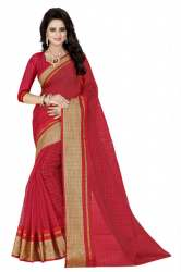 Cotton Sarees Gold Border