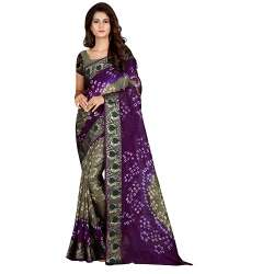 Fashion Printed Bandhni Silk Saree