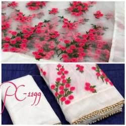 Party Wear Embroidery Work Saree
