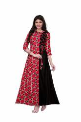 Gown Style Red Kurtis