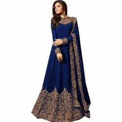 Royal Export Women s Heavy Georgette Party Wear Gown1