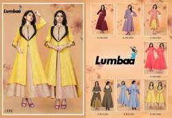 Lumbaa Party Wear Cotton Gown Kurtis