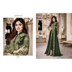 Ladies Embroidered Front Cut Suits