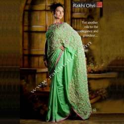 Hand Embroidered Designer Sarees