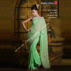 Ribbon Work Saree