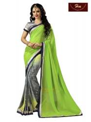 Printed Sarees With Fancy Blouse