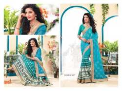 heavy work net saree