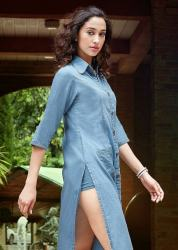Ladies Stylish Denim Kurti Kumb X1