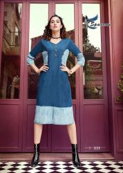 Ladies Stylish Denim Kurti Kumb X12