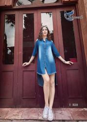 Ladies Stylish Denim Kurti Kumb X2
