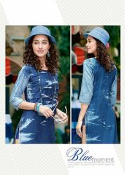 Ladies Stylish Denim Kurti Kumb X4