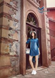 Ladies Stylish Denim Kurti Kumb X5