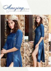 Ladies Stylish Denim Kurti Kumb X9