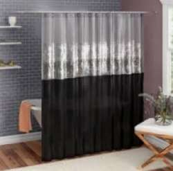 Printed Hookless Shower Curtain
