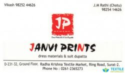 Janvi Prints logo icon