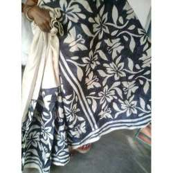 Tussar Hand Painted Saree With Blouse Piece