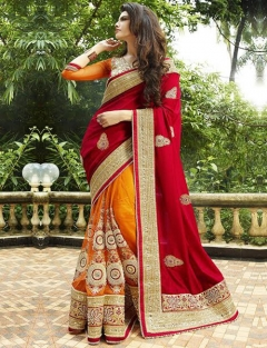 Embroidery Fancy Work Sarees