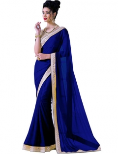 Fancy With Gold Boder Sarees