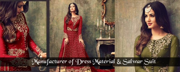 Manufacturer of Dress Material Salwar Suit