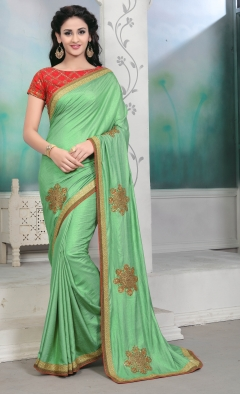 DESIGNER GREEN SILK SAREE
