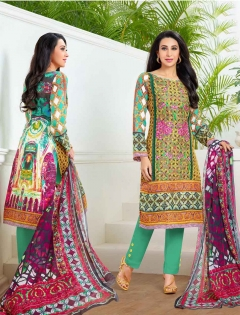FABLIVA LATEST MULTY COLOUR DESIGNER STRAIGHT SUIT