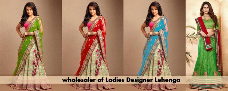 Wholesaler of Ladies Designer Lehenga Surat
