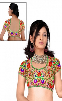 new multy designer blouse with dhupiyan fabric