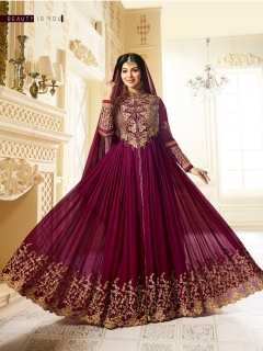 Chiffon with work with malti work Anarkali suit