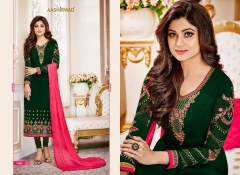 Heavy georgette with Embroidery work Straight suit