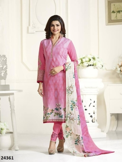 Thankar Pink Dailywear Cambric Cotton Straight Suit